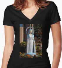 Camiseta entallada de cuello en V Mary and the Mums