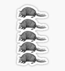 Army-dillos Sticker