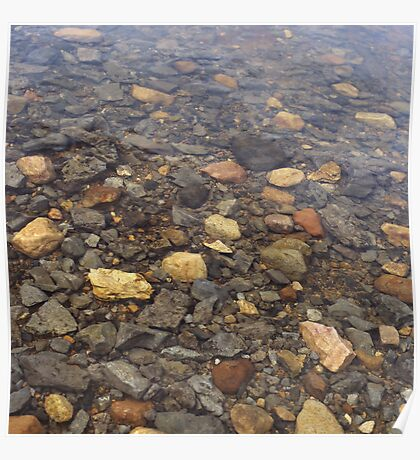 Submerged pebbles, Loch Assynt Poster