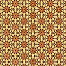 Gelb Braun Muster von Costa100
