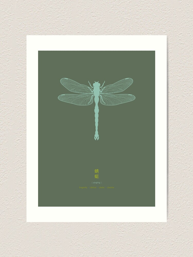 Alternate view of Dragonfly Art Print