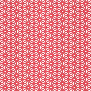 Asanoha Pattern - Coral by catcoq