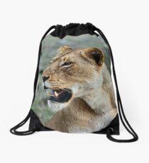 Lioness Wildlife  Drawstring Bag