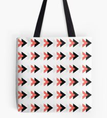 Forward arrows marble coral collage Tote Bag