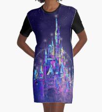 Princess Magical Castle Orlando Graphic T-Shirt Dress