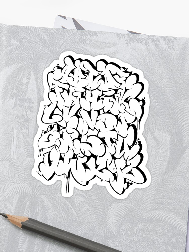 Graffiti letters - ABC, alphabet number 2 | Sticker