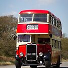 Vintage Red Bus by The Transport Lens