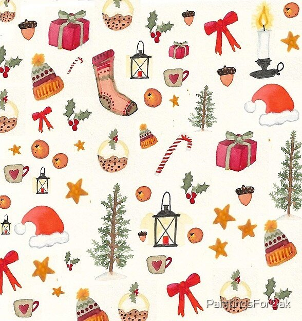 Folky Christmas by PaintingsForOak