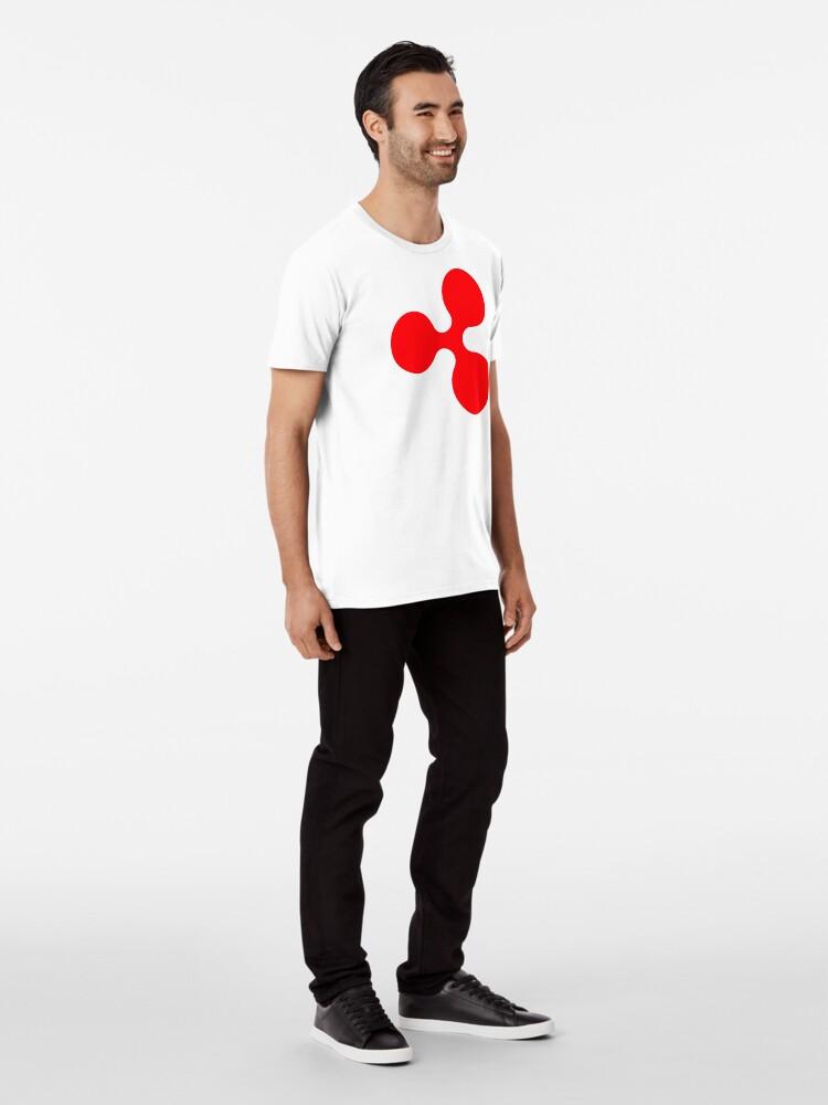 Alternative Ansicht von Ripple XRP - Crypto Premium T-Shirt