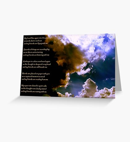 Birth of a Song - the image Greeting Card