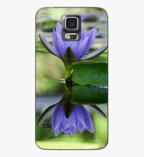 Purple Water Lily Case/Skin for Samsung Galaxy