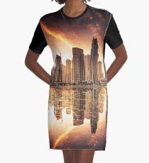 Dubai Skyline Graphic T-Shirt Dress