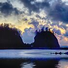 Sunset and Sea Stacks by Kathy Weaver
