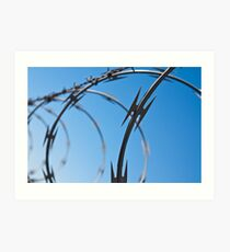 Barbed Wire Abstract Art Print
