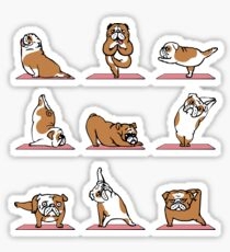 English Bulldog Yoga Sticker