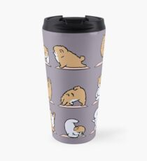 Pomeranian Yoga Travel Mug