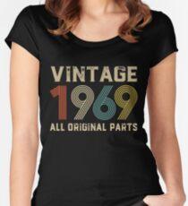50th Birthday Gift Vintage 1969 T-Shirt Men Women Women's Fitted Scoop T-Shirt
