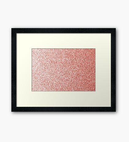 Living coral light glitter sparkles Framed Print