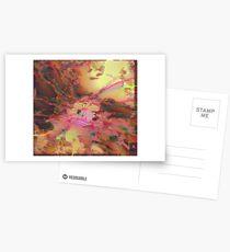 Fraktale Golden Autumn Postkarten