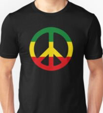 Peace - Rasta colours T-Shirt