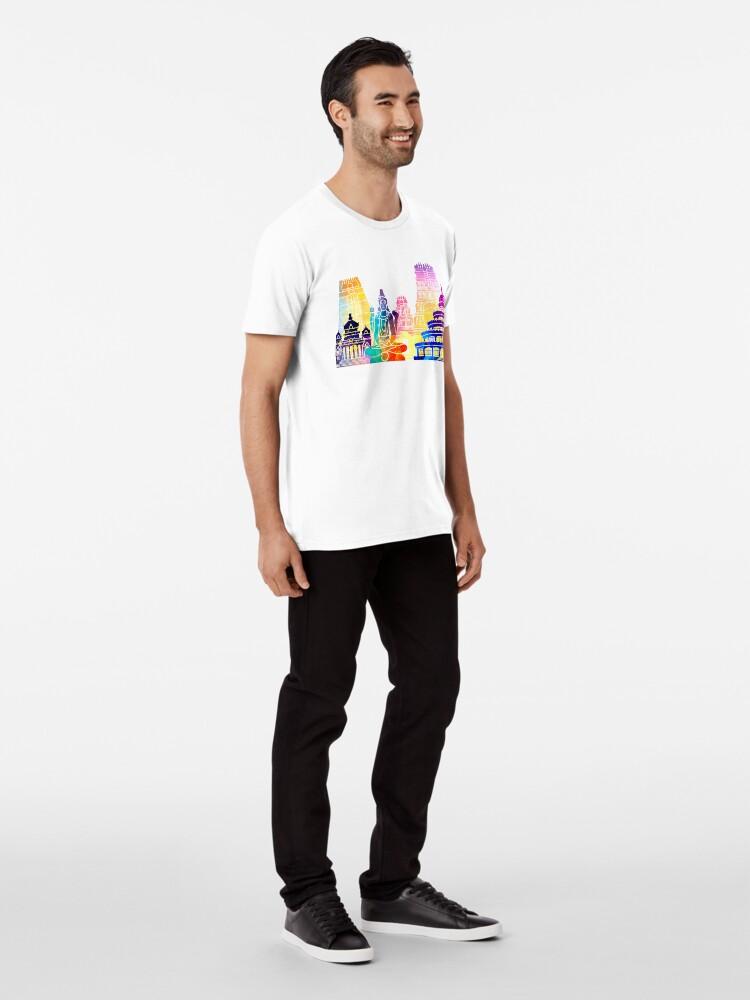 Alternative Ansicht von Bangalore-Markstein-Aquarellplakat Premium T-Shirt