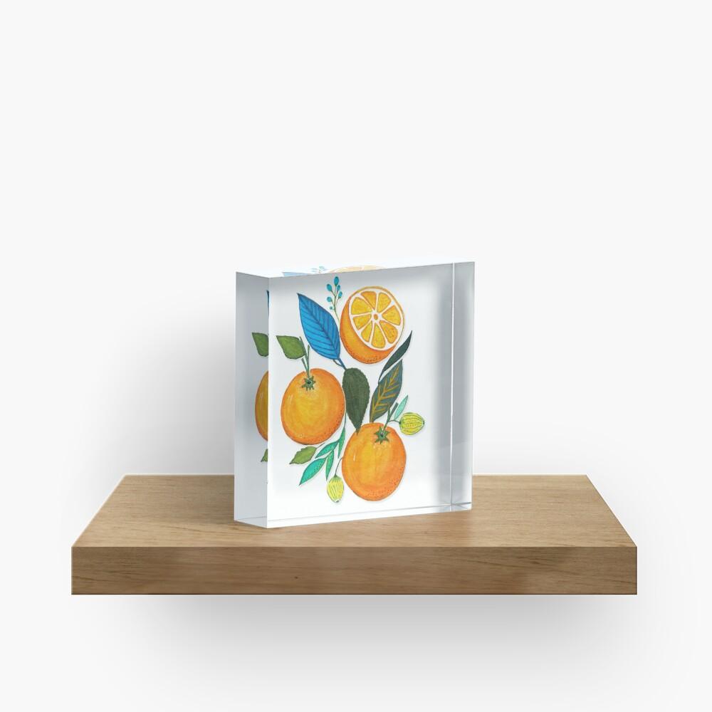 Lady Orange Acrylic Block