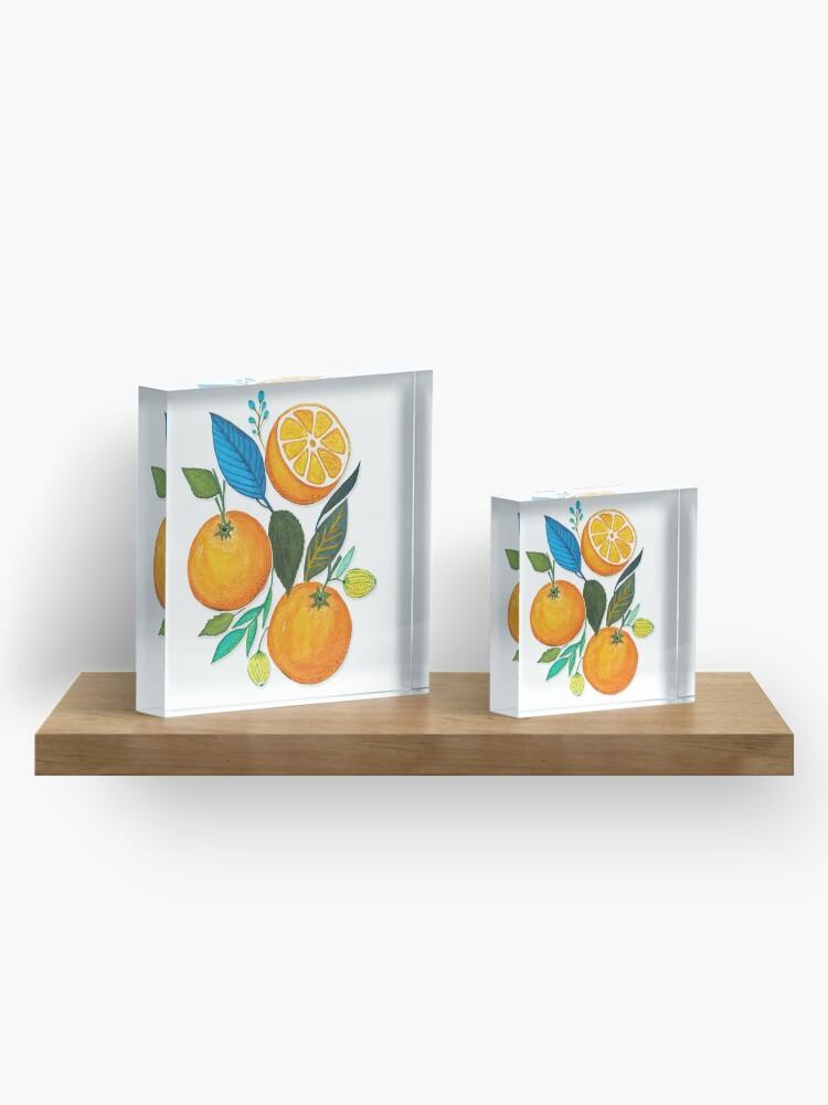 Alternate view of Lady Orange Acrylic Block