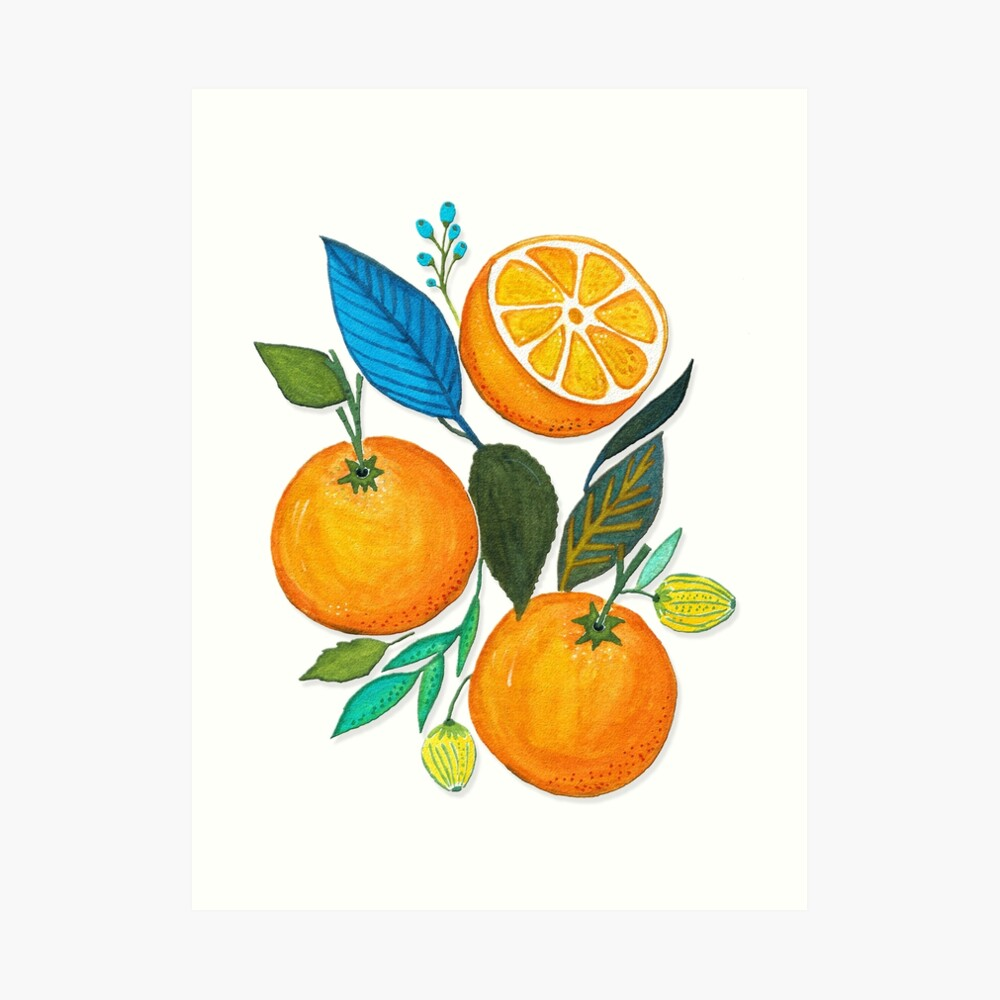 Lady Orange Art Print
