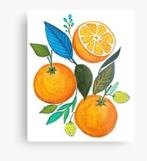 Lady Orange Metal Print