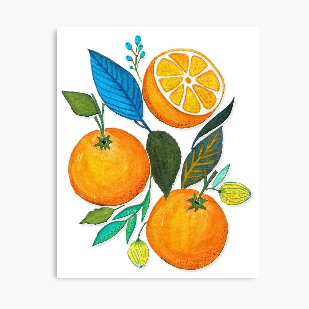 Lady Orange Canvas Print
