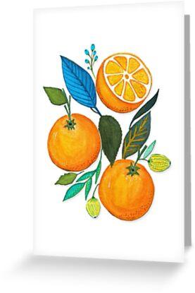 Lady Orange by Anny Cecilia  Walter