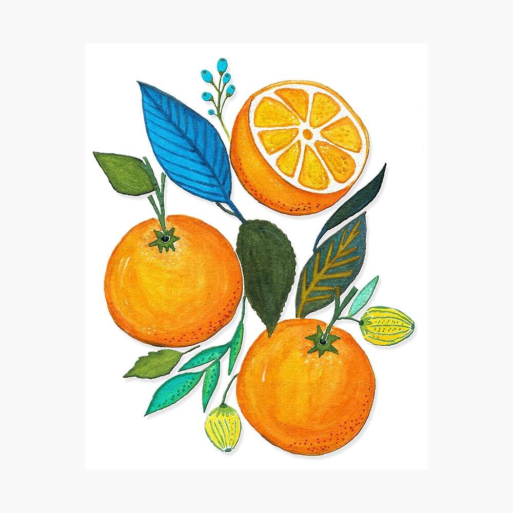 Lady Orange Lámina fotográfica