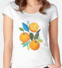 Lady Orange Women's Fitted Scoop T-Shirt