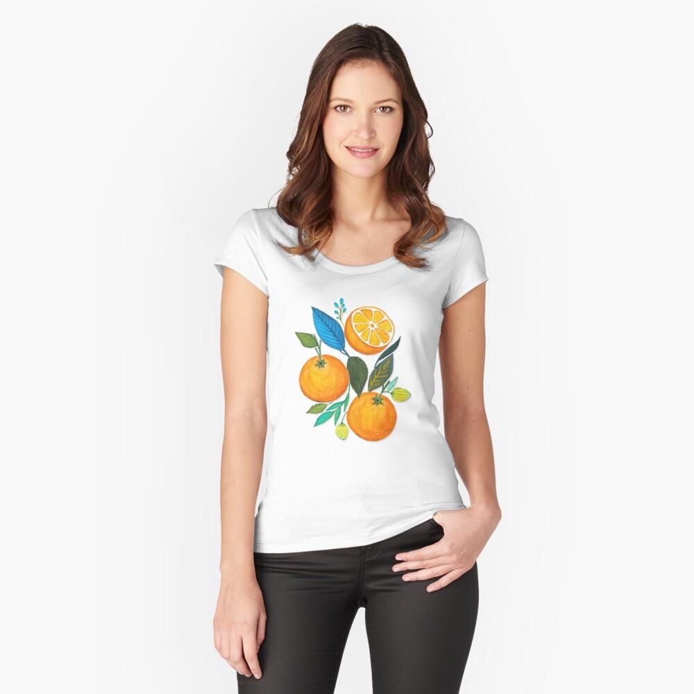 Lady Orange Camiseta entallada de cuello ancho