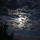 Full Moon Behind clouds by BernieG