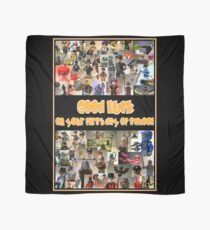 Good Luck on your First Day of School Greeting Card a Montage of Custom Minifigs Scarf
