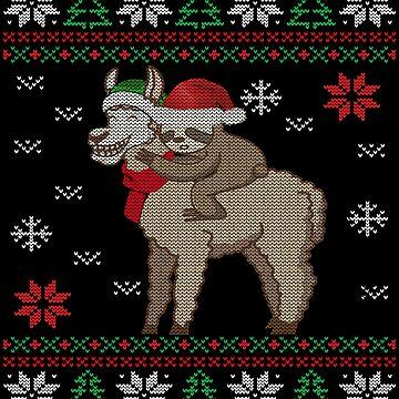 Santa Sloth Riding Llama - Santa Claus Sloth Rides Llama Gift Funny Christmas ugly sweater by MrTStyle