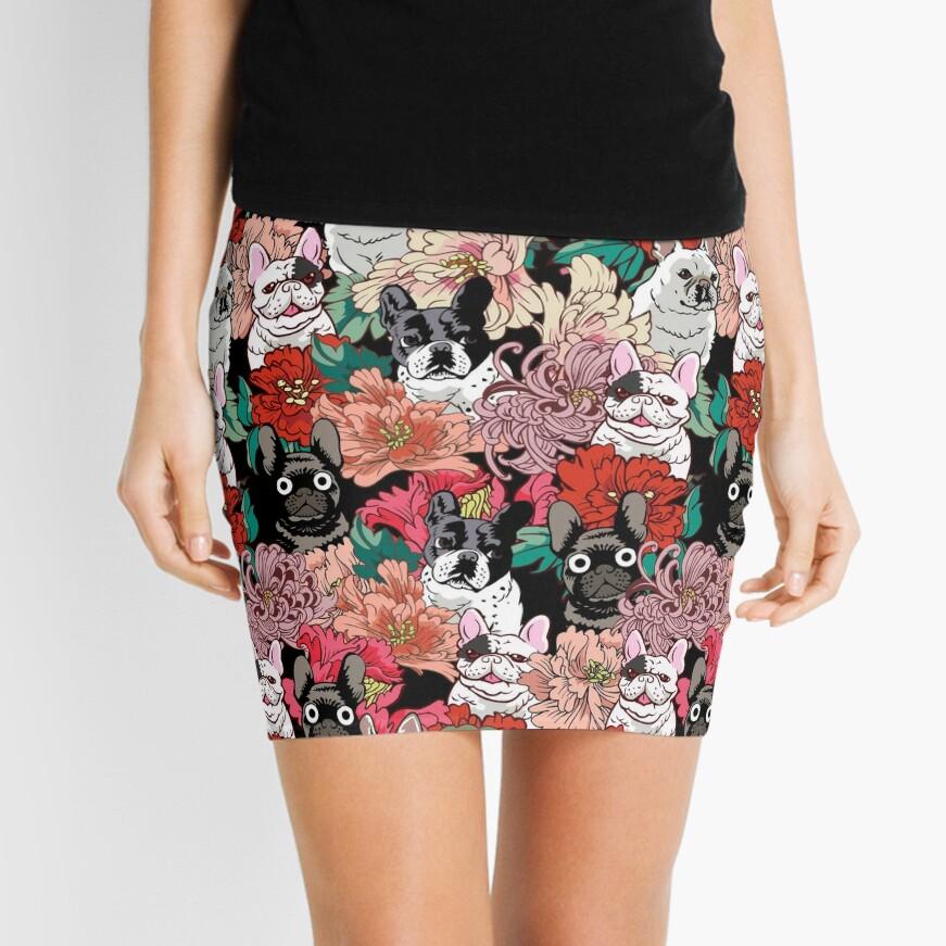 Because French Bulldog  Mini Skirt