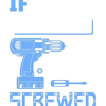 If Neil Can't Fix it We're All Screwed Stencil Blue by grouppixel