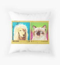 Umm Al Quwain Cat and Dog Print Throw Pillow