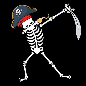 Dabbing Skeleton with Pirate's Hat by mrhighsky