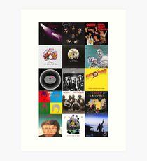 Queen-Alben Kunstdruck