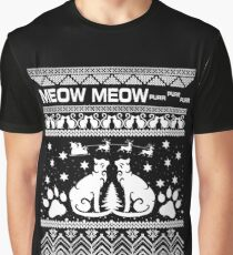 Meow Meow Purr Graphic T-Shirt