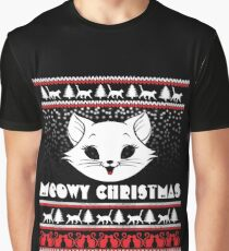 Meowy Christmas Graphic T-Shirt