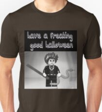 """Have a Freaking Good Halloween"" Custom Evil Magician Greeting Card T-Shirt"