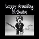 """Happy Freaking Birthday"" Custom Evil Magician Birthday Greeting Card by Customize My Minifig"