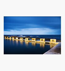 Merewether Ocean Baths at Night Photographic Print