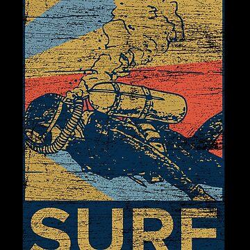 Diving surfing by GeschenkIdee