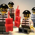 Convict Prisoner City Minifigure with Dynamite Sticks by Customize My Minifig