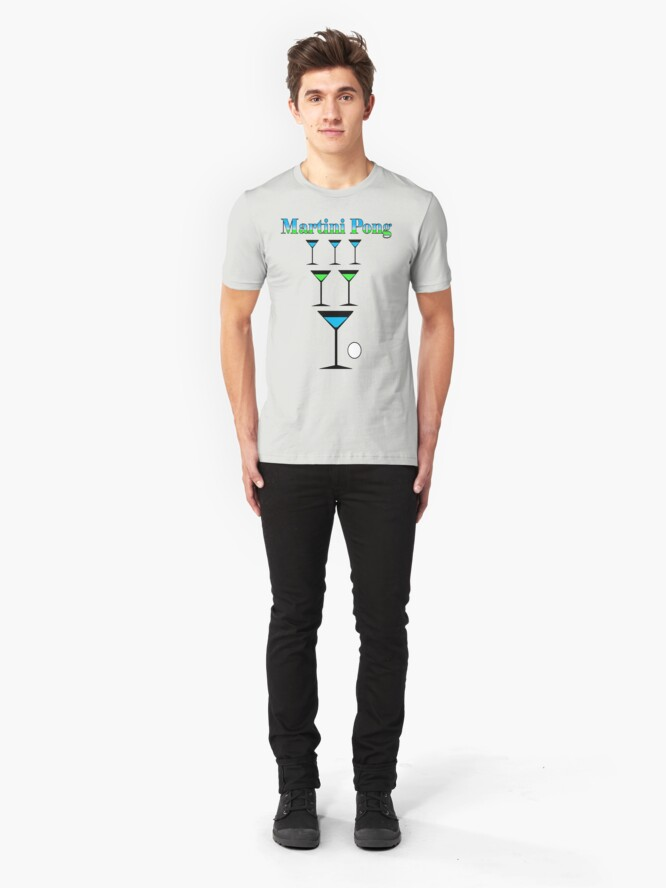Alternate view of Martini Pong Slim Fit T-Shirt
